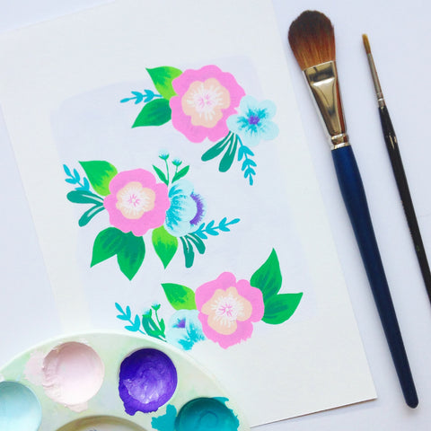 Lilac Floral Painting