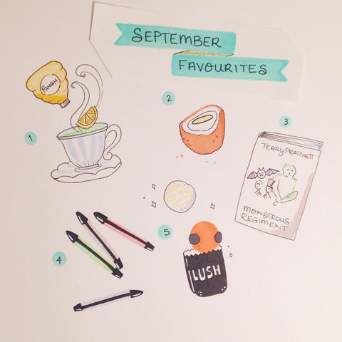 Illustration of favourite things from September