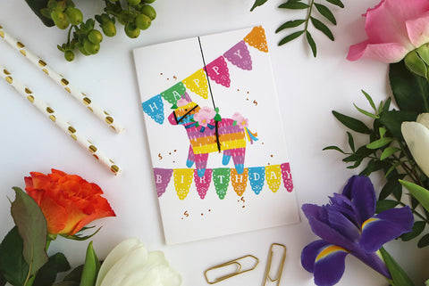 Birthday Piñata Card