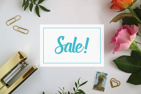 Stationery Sale Banner