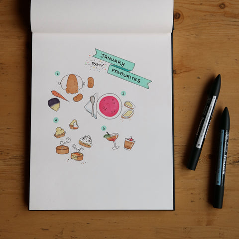Illustration of my favourite things in January