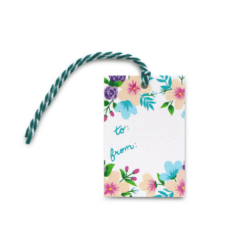 Bright Floral Gift Tag