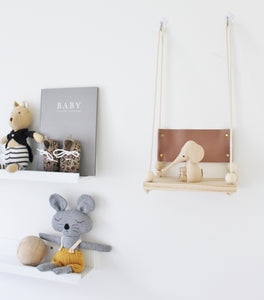 'North' Leather Swing Shelf