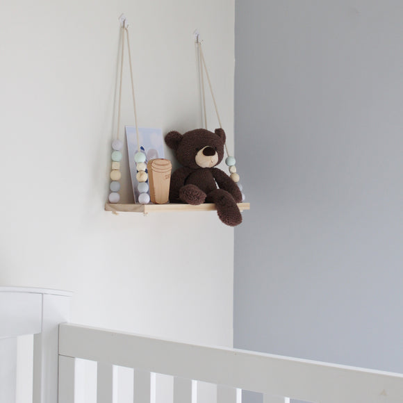 Lilac, BlueGrey & Mint Large Swing Shelf