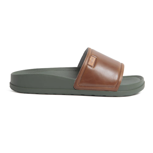 Supreem Slide - Brown/Olive