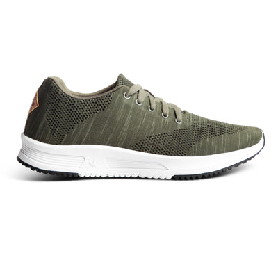 Tall Boy Trainer Knit - Olive