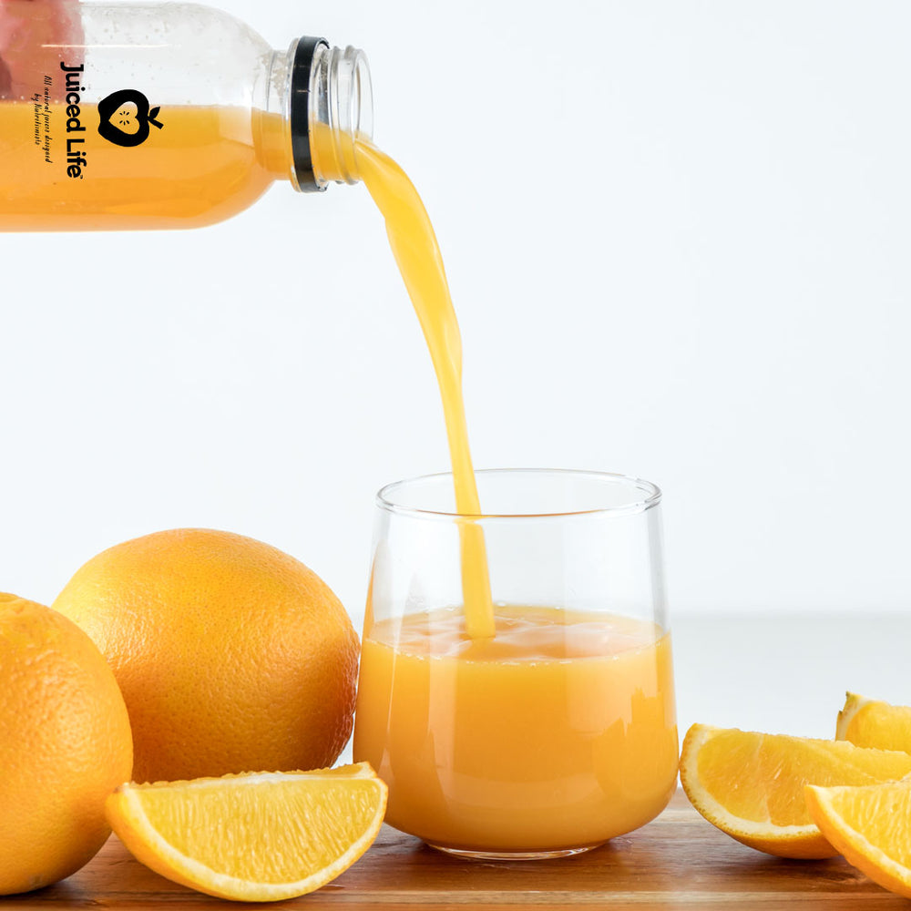 My Orange Juice being poured into a glass