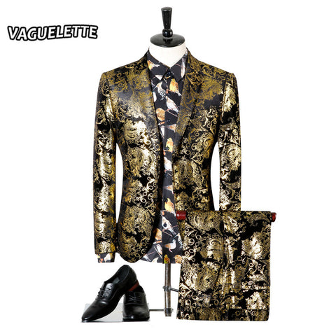 Mens Stylish Club Fashion Suit   Includes Only Blazer and Pants
