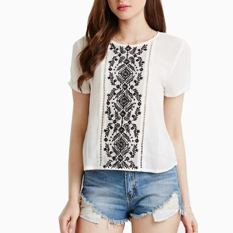 Ladies Casual Style Fashion Blouse Shirt