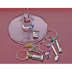 Dental Wine Glass Charms - 9026111