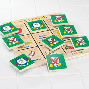 Tic Tac Tooth Wood Game - 4129015