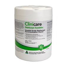 Clinicare Hospital Grade Disinfectant Wipes