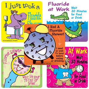Fluoride Stickers - FLOR