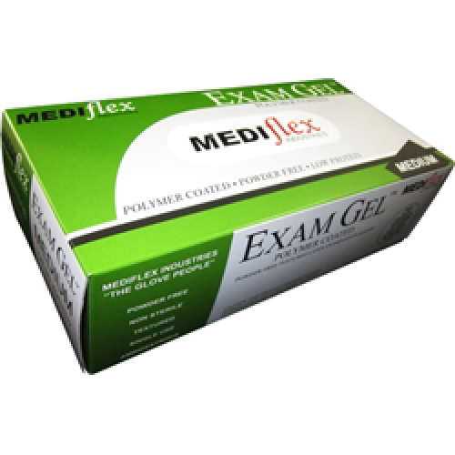 Mediflex Exam Gel Gloves Latex Powder Free