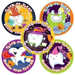 TRICK OR TREAT BRUSH YOUR TEETH STICKERS - ST1113