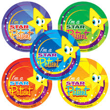 STAR PATIENT STICKERS ST253