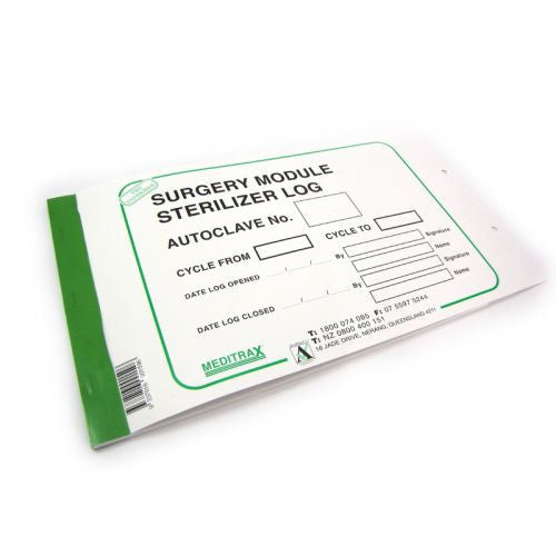 Surgery Module Sterilizer Log Book