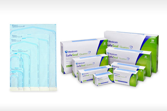SafeSeal Quattro Self Sealing Sterilisation Pouches From
