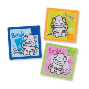 Brush Floss Smile Monkey Slide Puzzle - DEN551