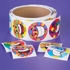 Funky Smile Sticker Roll (100)- 101811