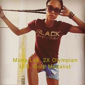 Muna Lee - Maroon Black Beautiful Brilliant Tee