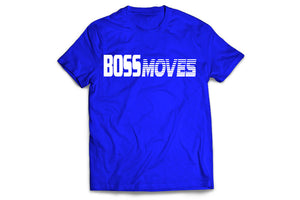 Boss Moves Adult Royal Blue T Shirt