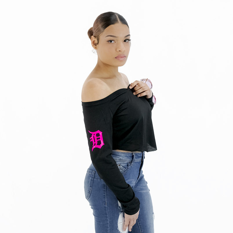 Boss Moves Curved Hem Crop Top