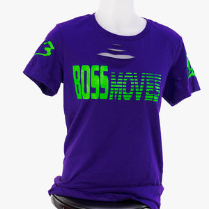 Boss Moves Distressed Purple T-Shirt