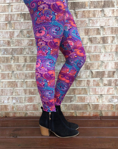 Perfectly Paisley Leggings