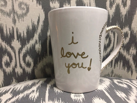 I Love You Gold Mug