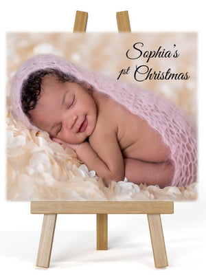 Personalised Photo Easel Plaque - PureEssenceGreetings
