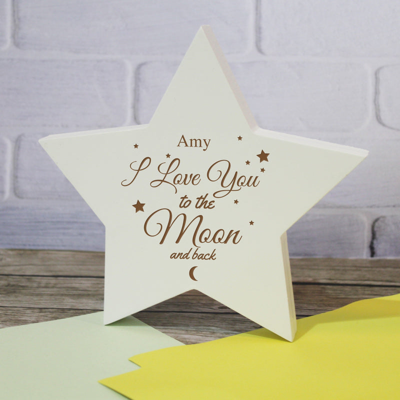 To The Moon & Back Star Plaque - PureEssenceGreetings