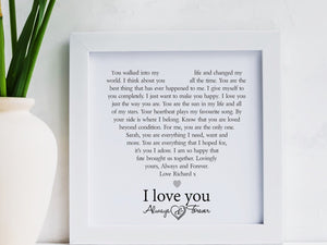 Always & Forever Framed Personalised Love Poem PureEssenceGreetings
