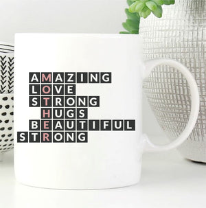 Amazing Mum Word Art Mug PureEssenceGreetings