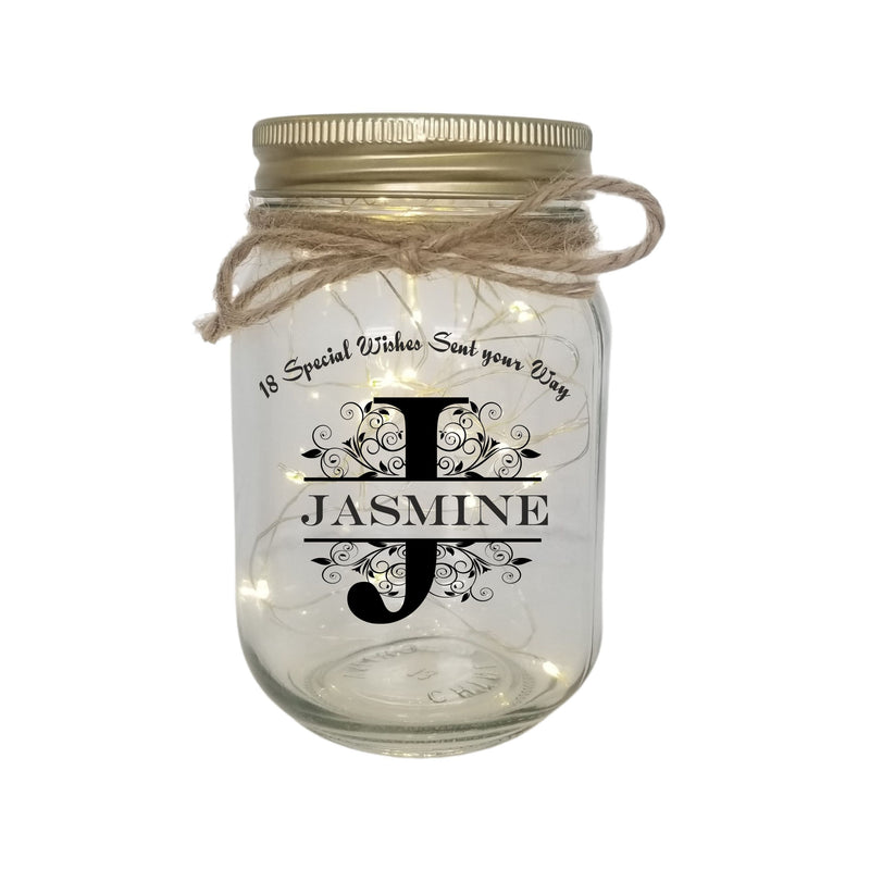 BIRTHDAY Personalised LED Candle Jar Light PureEssenceGreetings