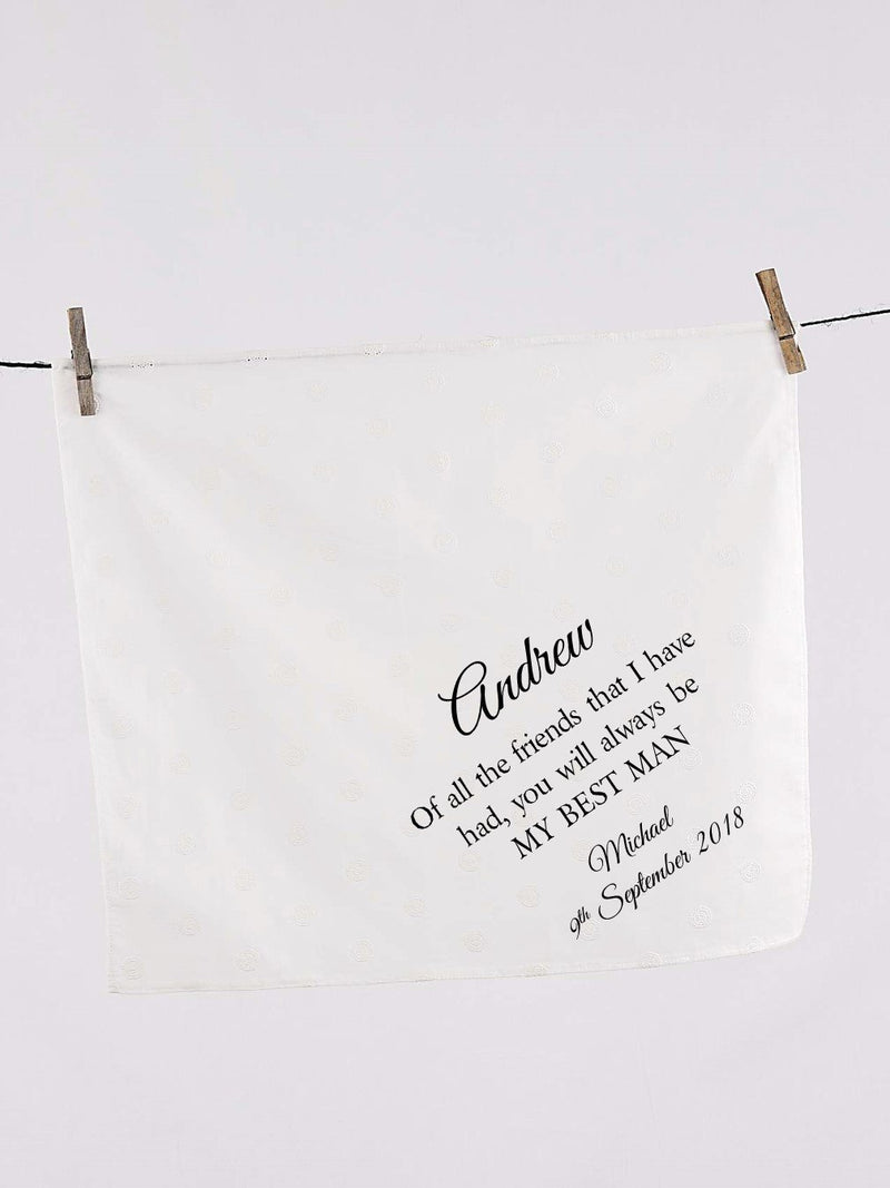 Best Man Personalised Wedding Handkerchief