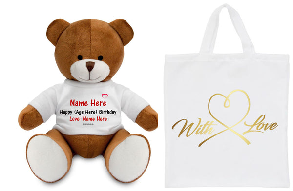 Birthday Personalised Teddy Bear - Suitable for All Ages PureEssenceGreetings