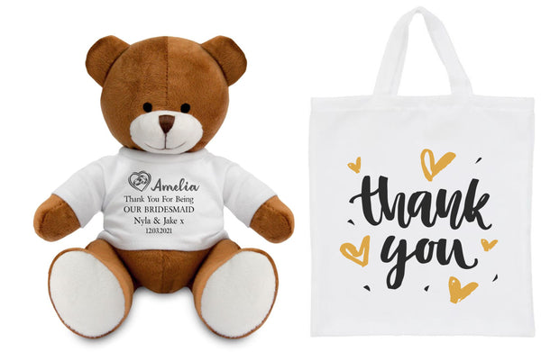 Bridal Party Personalised Teddy Bear PureEssenceGreetings