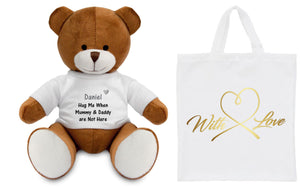 Children's Hug Me Personalised Teddy Bear PureEssenceGreetings