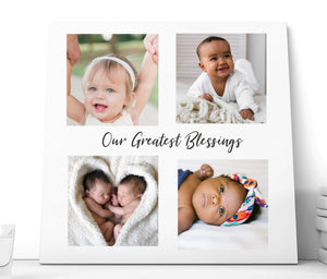 Copy of Personalised 4 Photo Ceramic Plaque  | Our Greatest Blessings PureEssenceGreetings