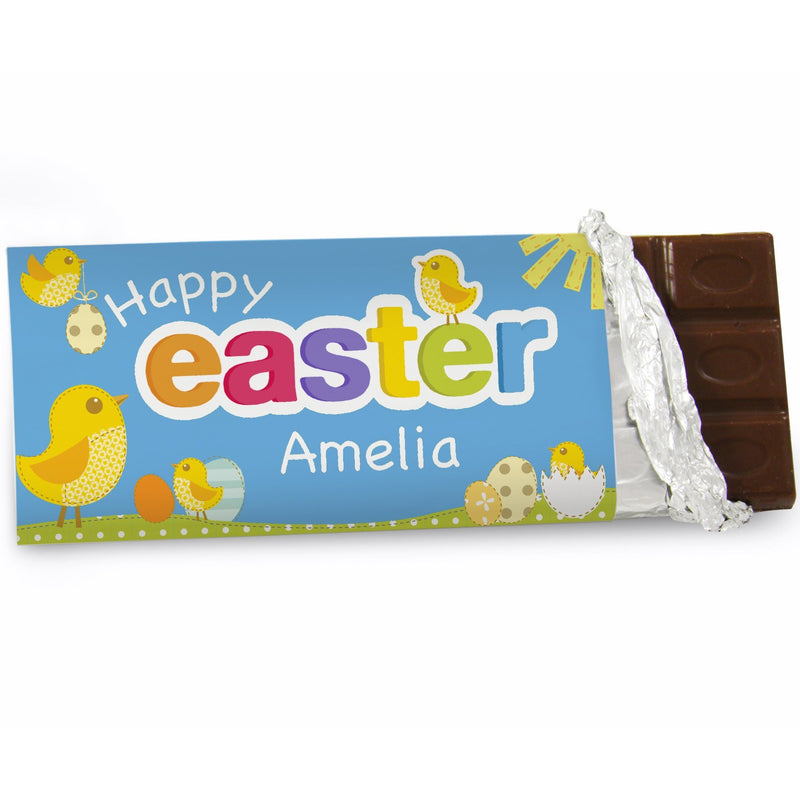 Copy of Personalised Easter Bunny Milk Chocolate Bar PureEssenceGreetings