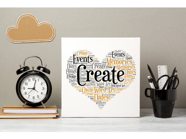 Create Your Own Word Art Greeting Card PureEssenceGreetings