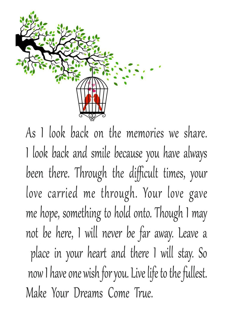 Dreams Come True Personalised Remembrance Photo Box Framed Poem PureEssenceGreetings