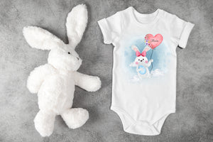 Easter Bunny Personalised Babygro | Pink PureEssenceGreetings