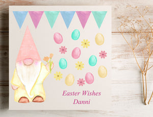 Easter Gnome Personalised Card | E2 PureEssenceGreetings