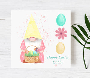 Easter Gnome Personalised Card PureEssenceGreetings