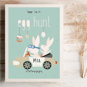 Egg Hunt Happy Easter Personalised Card | E3 PureEssenceGreetings
