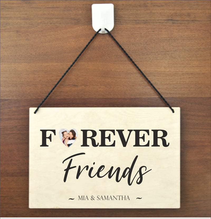 FRIEND Personalised Photo Plaque - LAUGH SMILE LIVE PureEssenceGreetings