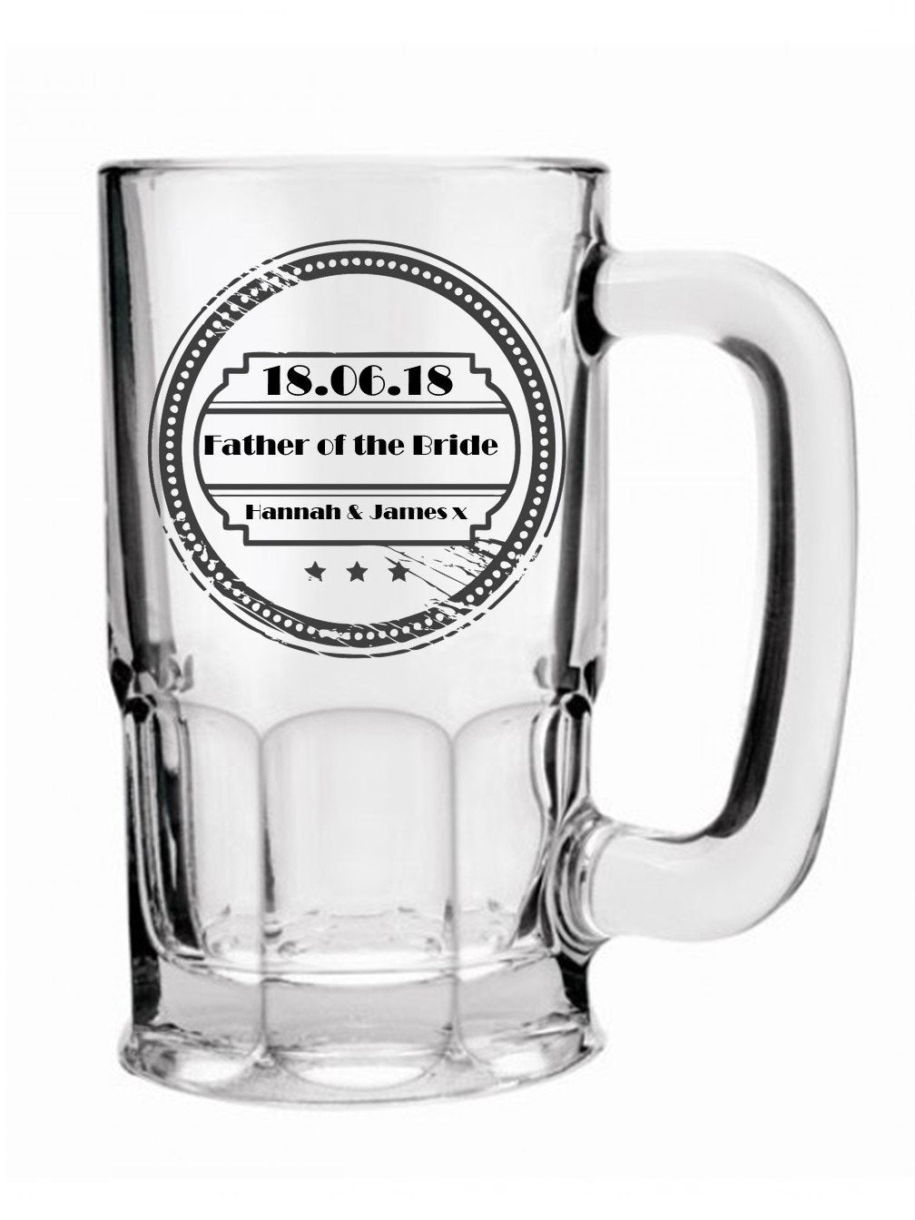 Personalised Wedding Beer Mug | PureEssenceGreetings