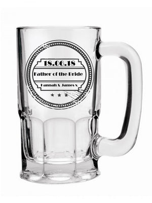Personalised Wedding Beer Mug | Thank You Gifts - PureEssenceGreetings